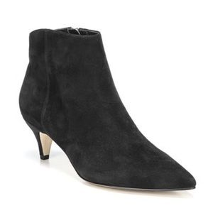 Sam Edelman Kinsey Black Pointed Toe Ankle Booties